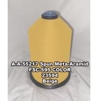 A-A-55217A Spun Meta-Aramid Thread, Tex 30/3, Size 50, Color Beige 23594