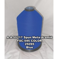 A-A-55217A Spun Meta-Aramid Thread, Tex 30/3, Size 50, Color Blue 25095