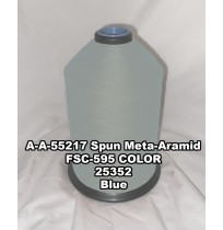 A-A-55217A Spun Meta-Aramid Thread, Tex 30/3, Size 50, Color Blue 25352