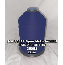 A-A-55217A Spun Meta-Aramid Thread, Tex 30/3, Size 50, Color Blue 35052