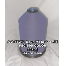 A-A-55217A Spun Meta-Aramid Thread, Tex 30/3, Size 50, Color Azure Blue 35231