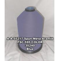 A-A-55217A Spun Meta-Aramid Thread, Tex 30/3, Size 50, Color Blue 35240