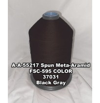A-A-55217A Spun Meta-Aramid Thread, Tex 30/3, Size 50, Color Black Gray 37031